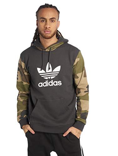 adidas Camo Oth Hoody Hooded Sweat, Herren XL Schwarz (Utility Black)