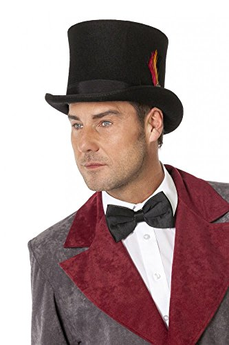 r aus Wollfilz Schwarz mit Feder Topqualität hochwertig Hut , Größe:59 ()