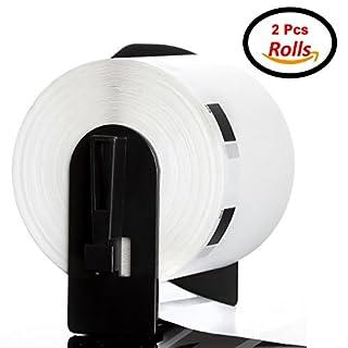 ACENIX-DK11209(2Stück) 29mm x 62mm Adress-Etiketten Rolle für Brother P Touch-/QL-500/Etikettendrucker/QL-(2Rollen mit Rahmen) Twin Pack