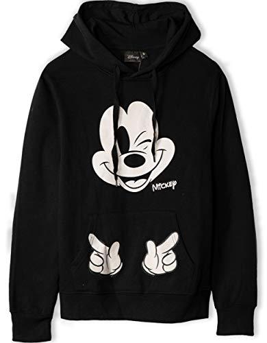 Disney Mickey Mouse Damen Wink Pullover Mit Kapuze Schwarz M