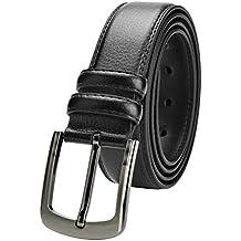 VRLEGEND Cinturón Hombre Cuero Cinturones 120cm-180cm para hombres  regulares y grandes y altos 1e70d2381c2f