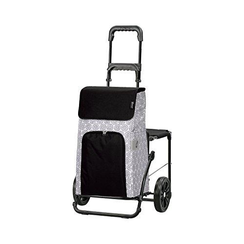 Andersen Shopper Komfort mit Sitz und 45 Liter Tasche Henni weiß