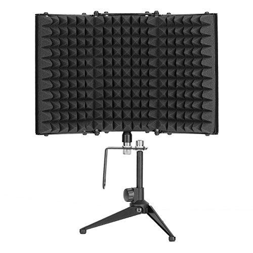 Professionelle Sound-Shield, Tisch Mikrofon Isolation Shield faltbar Studio Mikrofon Sound Dämpfung Schaumstoff Reflektor mit Halterung -