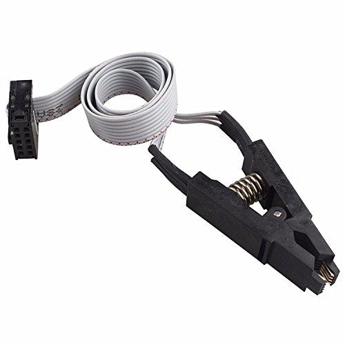 SOIC8 SOP8 Test IC-Clip Test Clip Buchse Adpter für Flash-EEPROM-BIOS 24 25 93 95 Programmierer mit Kabel