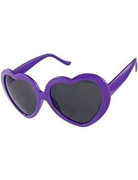 Providethebest Amor lindo de la forma del corazón Diseño Gafas de sol Púrpura