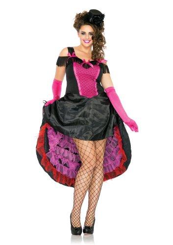 Leg Avenue 83786X - Highkick Honey Kostüm, Übergröße 46, (Charleston Größe Kostüme Plus)
