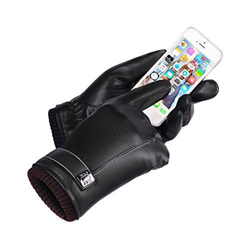 Tuopuda® Guantes mujeres invierno cálido/térmica guantes de pantalla táctil guantes de esquí nieve snowboard para moto conducción (negro)