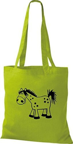 shirtstown Borsa di stoffa animale cavallo pony Kiwi