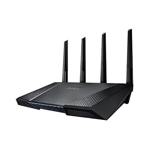 festplatte ohne strom Asus RT-AC87U Router (WiFi 5 AC2400 MIMO, 4x Gigabit LAN, App Steuerung, AiProtection, DFS, Multifunktion USB 3.0, IPv6, VPN)