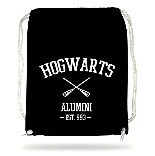 Certified Freak Hogwarts Alumini Turnbeutel Black