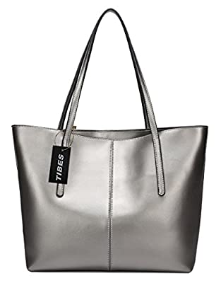 Tibes Mesdames Designer en cuir véritable sac à main sac à main fourre tout