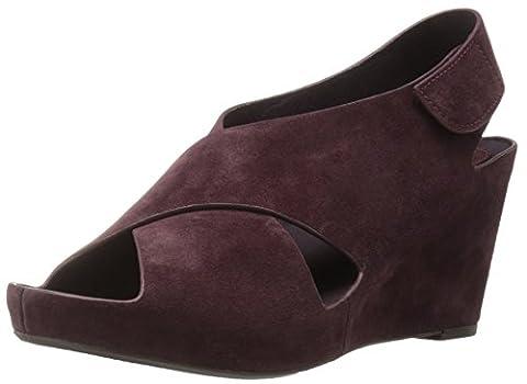 Johnston & Murphy Women's Tori Wedge Sandal, Wine, 9.5 M US