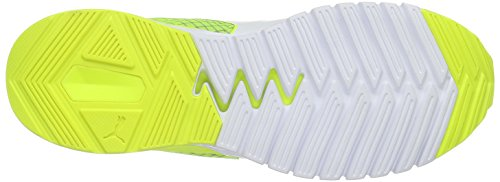 Puma Ignite Dual Disc Scarpa da Running Unisex – Adulto Grigio (Quarry-safety yellow-puma White 03)