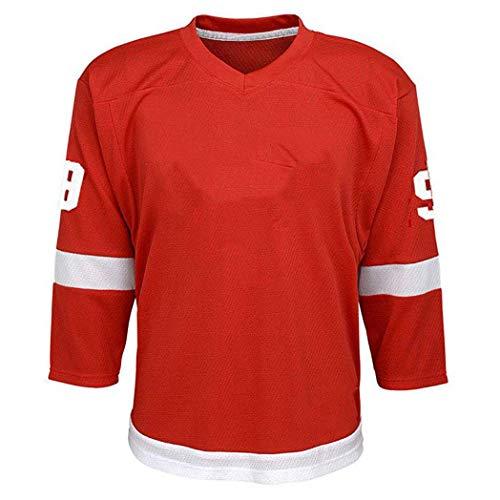 RENDONG NHL Trikot Detroit Red Wings Rot Eishockey Anzug Hockey Trikot 2018 Saison Für Männer Freizeit Trainingsanzügec,40,S