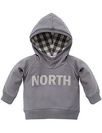Pinokio Baby - Jungen Kapuzen Sweatshirt / Shirt Baumwolle aus der Serie North Grey
