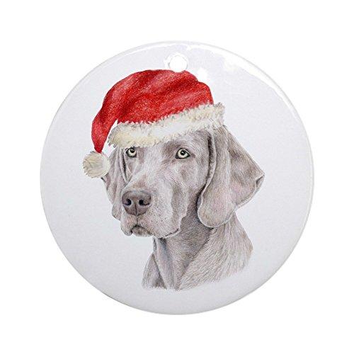 CafePress-Weihnachten Schmuck Weimaraner (rund)-Rund Urlaub Weihnachten Ornament -