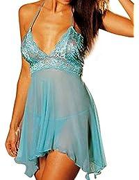 VJGOAL Women's 2 Piezas Set Super Sexy sliiing lencería Vestido de Encaje Ropa Interior erótica Ropa Interior tentación más tamaño