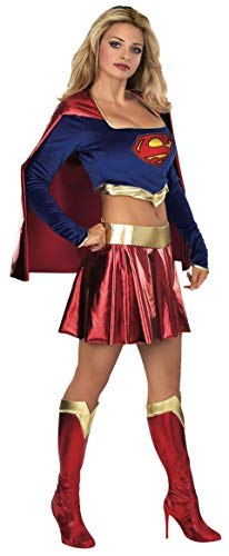 Für Top Erwachsenen Superman Kostüm - Rubie 's Offizielles Damen Supergirl Erwachsene Kostüm Top und Rock-Kleine