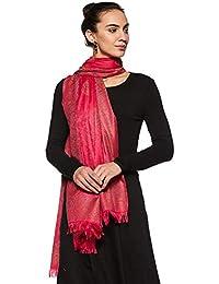Weavers Villa Women's Shawl (WV-402-RANI_Pink_L)