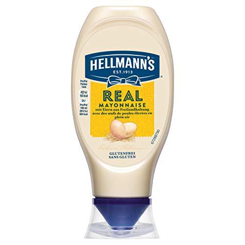 Hellmann\'s Real Mayonnaise (78{a933f311e42dc7a28c0c3bf284fa544636d718bc4a291b8c6e82fce86b33cf1b} Fettgehalt) 1er Pack (1 x 400 g)