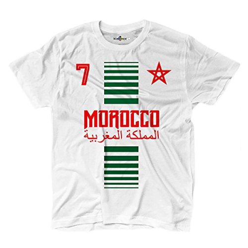 T-Shirt manner National Sport Marocco Marokko 7 fussball Sport Afrika Stella 2 M (Rugby-bier Guinness)