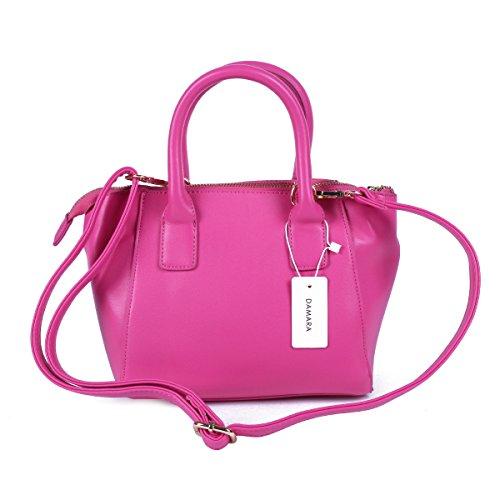 Damara Damen Süße Minimalistisch Handtasche,Schwarz Rot