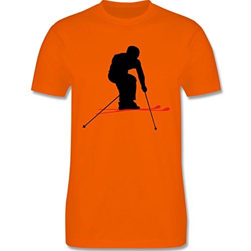 Wintersport - Skifahren Urlaub - Herren Premium T-Shirt Orange