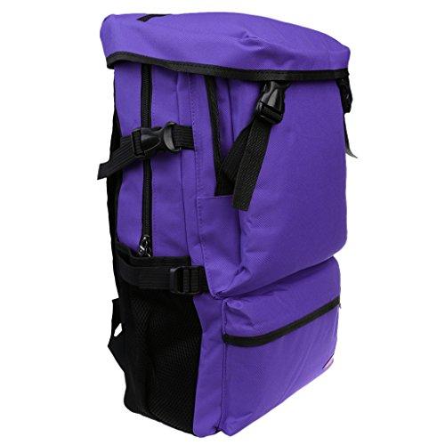 MagiDeal Unisex Zaini Sportivo da Escursionismo Campeggio Outdoor Borsa Viaggio - Blu reale Viola
