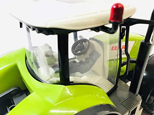 RC Auto kaufen Traktor Bild 6: BUSDUGA RC Ferngesteuerter Traktor CLAAS 870 Axion 1:16 - passend zu den Bruder Anhänger, inkl. Batterien - 2,4 GHz - RTR (Ready-to-Run) Sofort Spielbereit - Lizenz NACHBAU*