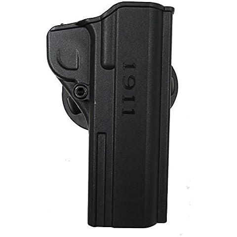 Imi polimero pistola fondina 1911.45ritenzione Roto Moulded Airsoft z8060, Black