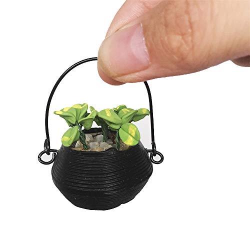 TianranRT Mini Puppenhaus Miniatur Grün Pflanze in Terrakotta Topf Fee Garten Zubehör