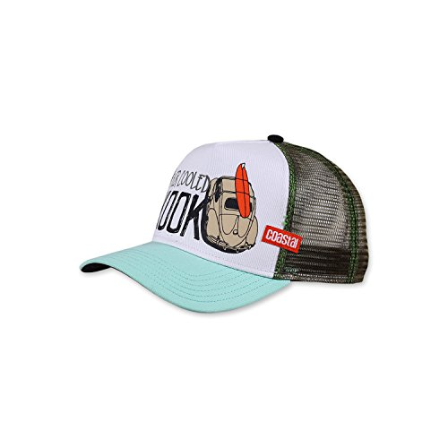 COASTAL - Air Cooled (white/lightblue/olive) - High Fitted Trucker Cap
