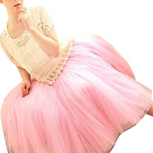 VOSO - 50s Vintage Underskirt Tutu Petticoat Bouffant Swing Dress One Size (Pink)