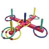 Symiu Quoits Set Hoopla Outdoor Toys Garden Games for Kids Ring Toss Indoor Throwing Hoops EVA