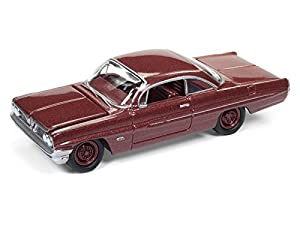 Johnny Lightning JLSP008A 1 1:64 1961 Pontiac Catalina - Coronado, Color Rojo