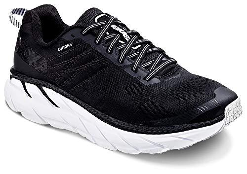 Hoka CLIFTON 6, Zapatillas de Running por Mujer, Negro (Black/White BWHT), 40...