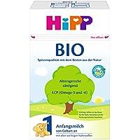 HiPP Milchnahrung 1 Bio, Anfangsmilch von Geburt an, 4er Pack (4 x 600 g)