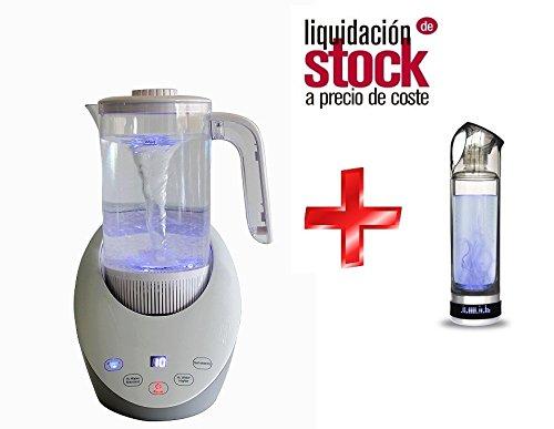 Foto de Pack 2 | Jarra y Botella de Agua Hidrogenada | Hidrogenador de Agua | Agua Hidrogenada | 1500ml y 500 de Capacidad | Purificador de Agua con Hidrógeno | Liquidación Últimas Unidades