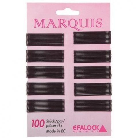 Efalock Marquis 4 cm Brown Lot de 100 Cheveux Pince Marquis 4 cm Brown Lot de 100 Thermatt Extensions de cheveux
