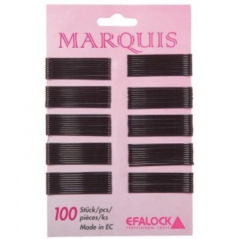 Efalock Marquis 4 cm Noir 100 Stk cheveux pince Marquis 4 cm Noir 100 Stk Thermatt Extensions de cheveux