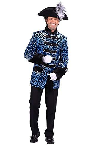 Thetru Herren Kostüm Husar Uniform Jacke Zebra türkis Karneval Gr.M