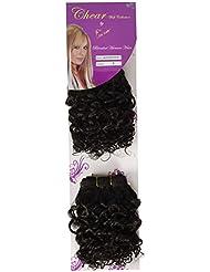 chear Water Wave 2en 1trame Extension de cheveux humains avec de mélange tissage numéro 2, marron foncé 20cm