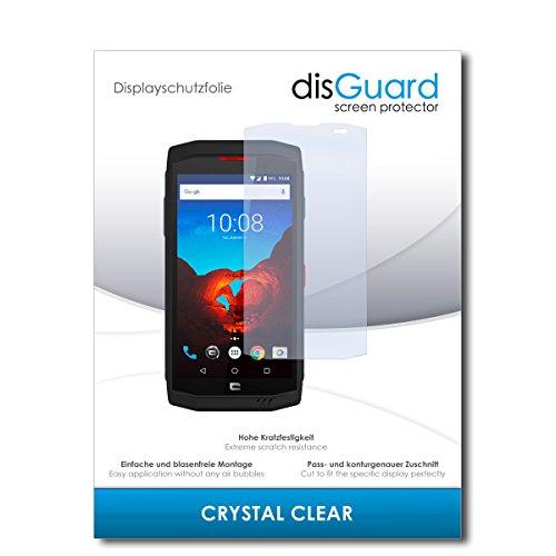 disGuard® Bildschirmschutzfolie [Crystal Clear] kompatibel mit Crosscall Trekker X3 [2 Stück] Kristallklar, Transparent, Unsichtbar, Extrem Kratzfest, Anti-Fingerabdruck - Panzerglas Folie, Schutzfolie