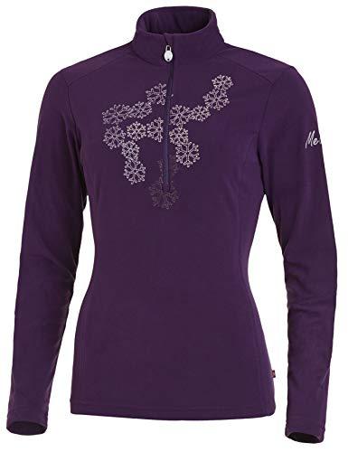 Medico Damen Ski Shirt, 40, Fleece, langarm, Reißverschluss, Applikation