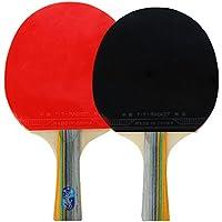 Docooler 2 Ping Pong Racchetta + Sfera 3 + 1 Borsa Racchetta Manico Lungo Tremolio (2 Spugna Palle)
