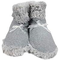 MYSTICALL Calentadores de pie eléctricos USB para mujeres, botas de zapatos con calefacción, zapatos de calentamiento para el interior de invierno, con lámina calefactora de fibra de carbono