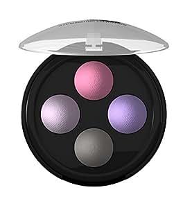 Lavera, Palette di 4 ombretti illuminanti, 2 g, Viola (Lavender Couture 02)