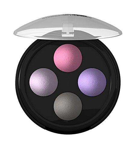 lavera Lidschatten Illuminating Eyeshadow Quattro ∙ Farbe  Lavender Couture ∙ farbbrilliant & langanhaltend ∙ Natural & innovative Make up ✔ Bio Pflanzenwirkstoffe ✔ Naturkosmetik ✔ Augen Kosmetik 1er Pack (1 x 2 g)