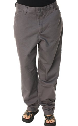 Lee Jeans Women's Riders Eased Fit Misses Flat Front Casual Slacks Gray