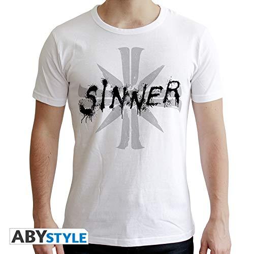 ABYstyle - Camiseta de Manga Corta (Talla XL), diseño con Texto Far Cry, Color Blanco